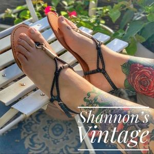 Coach black sandals size 7.5